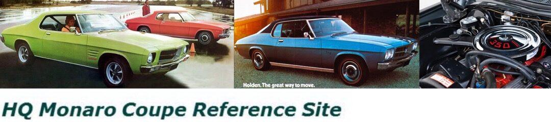 HQ Monaro Coupe Reference Site